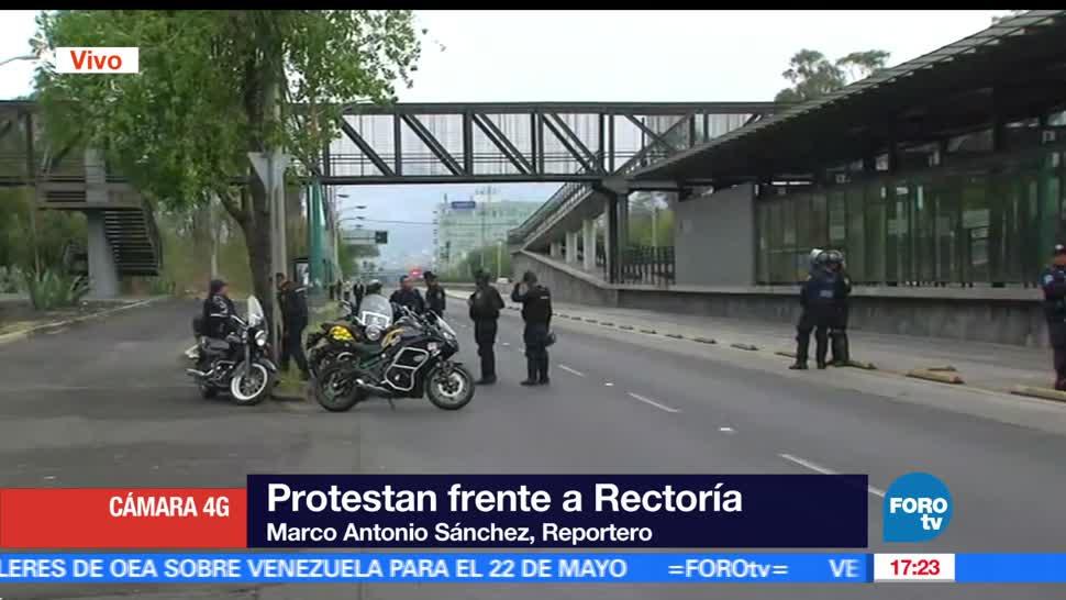 Estudiantes, UNAM, Manifestación, Frente, Rectoría, Ciudad Universitaria