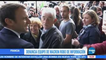 Candidato presidencial de Francia, Emmanuel Macron, Denuncia, Robo, Información, Hackeo