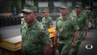 noticias, televisa news, Con honores, despiden, soldados asesinados, Palmarito