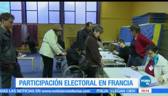 tasa de participación, franceses, comicios presidenciales, Ministerio del Interior francés