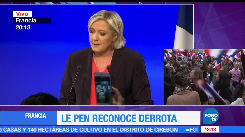 candidata, Marine Le Pen, Emmanuel Macron, presidente de Francia