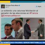 Enrique Peña Nieto, felicita a Macron, triunfo electoral, presidente de México