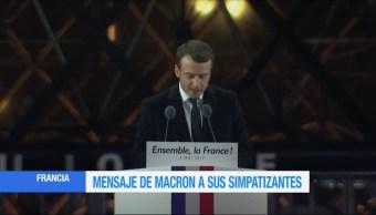 Emmanuel Macron, agradece a franceses, presidente electo de Francia, Museo del Louvre