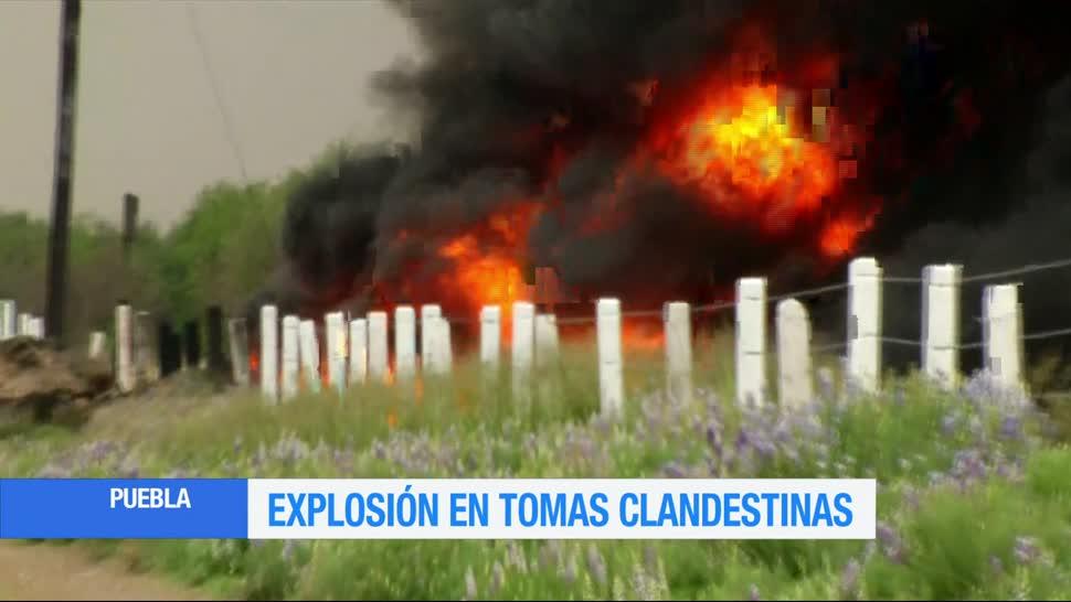 explosión en ducto, Pemex, Puebla, municipio de Acajete