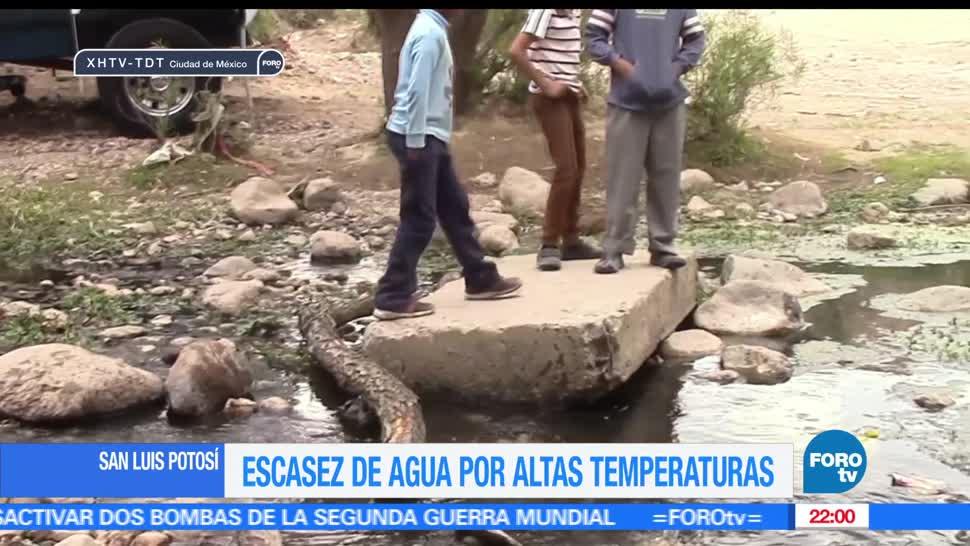 Escasez, agua, altas temperaturas, San Luis Potosí, Clima, Calor