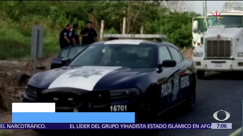 policías federales, pipa de combustible, Sayula de Alemán, Veracruz
