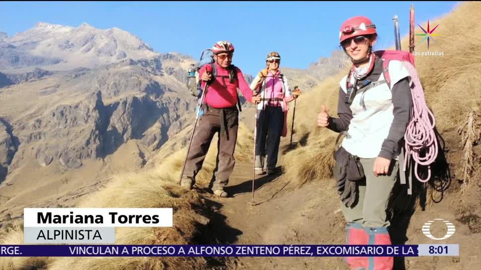 Mariana, practica alpinismo, enfermedad, mayor reto