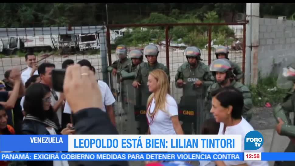 opositor preso, Leopoldo López, visita, esposa, prisión militar, Ramo Verde,