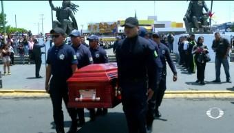 noticias, televisa news, Rinden homenaje, policias asesinados, Neza, intento de asalto