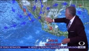 tormentas fuertes, San Luis Potosí, Hidalgo, Puebla, Chiapas, Clima, Condiciones climatologicas