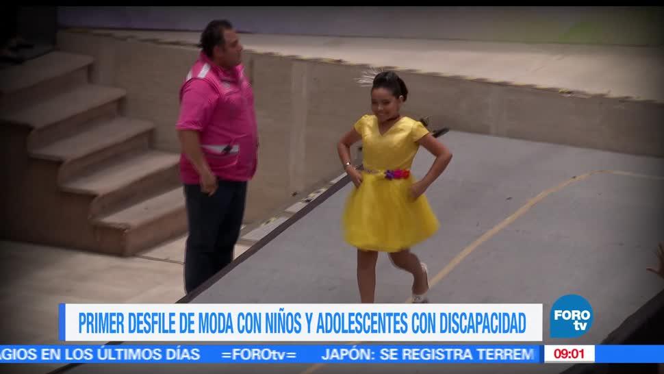 Héctor Alonso, desfile de moda, adolescentes, discapacidad