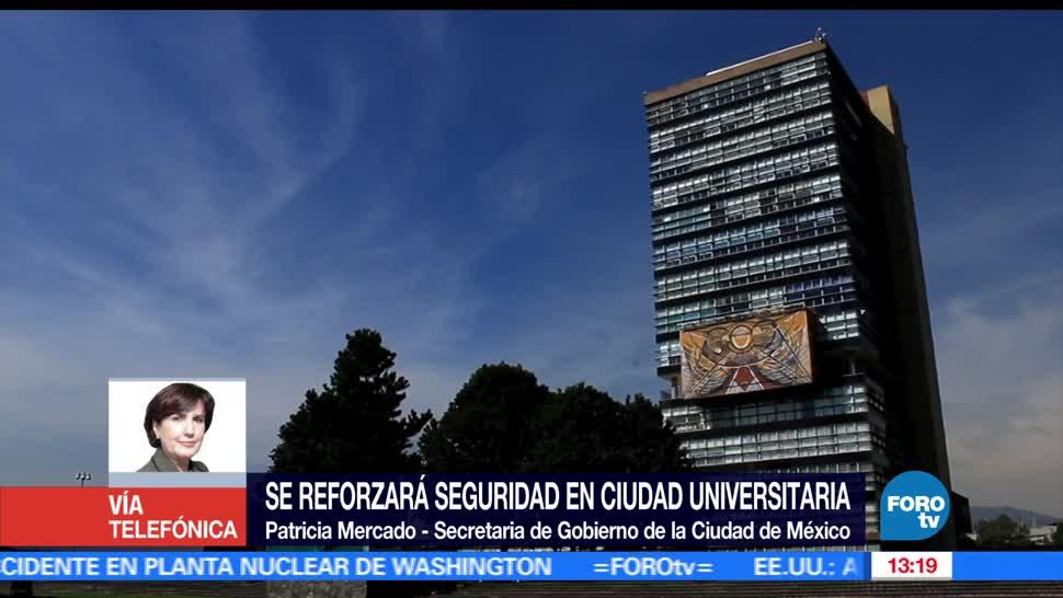 Patricia Mercado, operativo, seguridad, UNAM