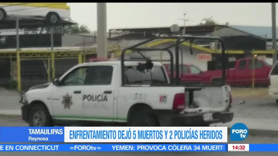 Enfrentamiento, 5 muertos, Reynosa, Tamaulipas