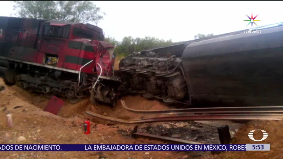 tren de carga, ácido sulfúrico, polvo de cobre, heridos