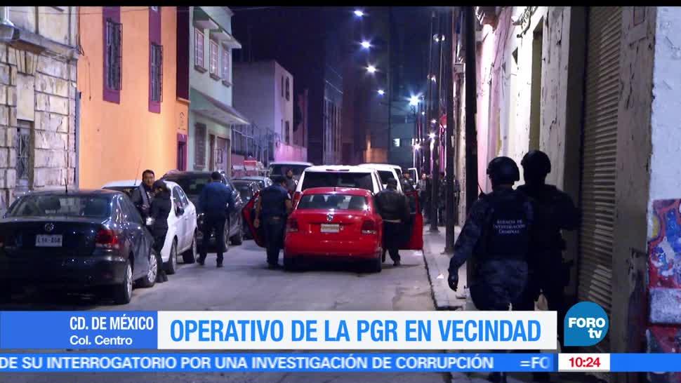 Elementos, PGR, operativo, centro de la Ciudad de México