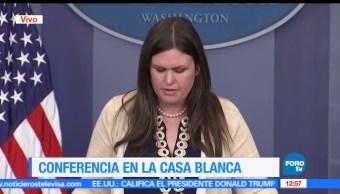 secretaria de prensa, Sara Sanders, Donald Trump, FBI, James Comey