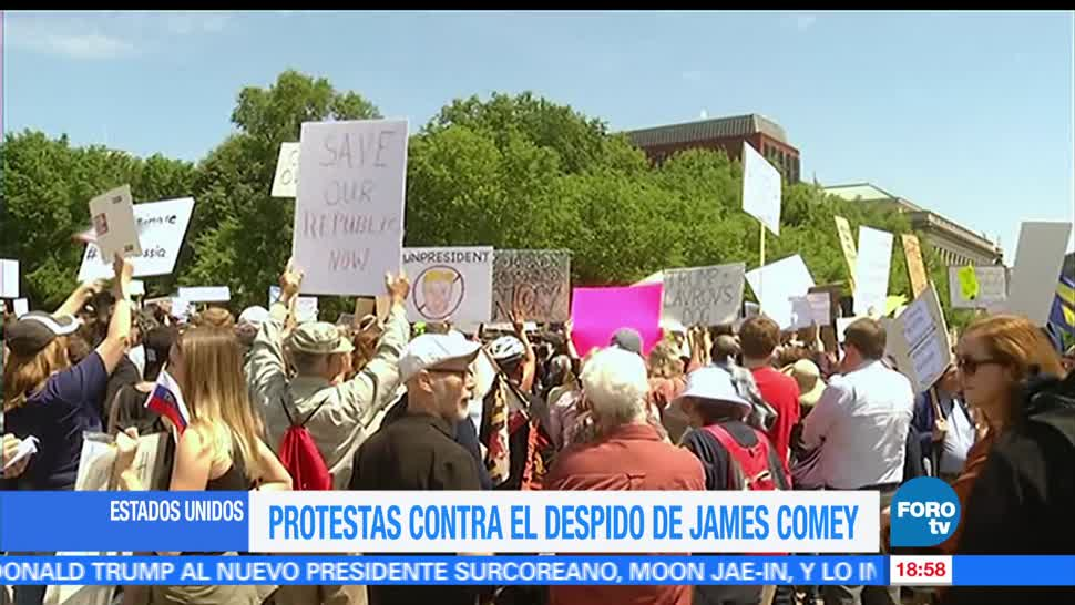 Protestan, Casa Blanca, Despido, director del FBI, James Comey, Estados Unidos