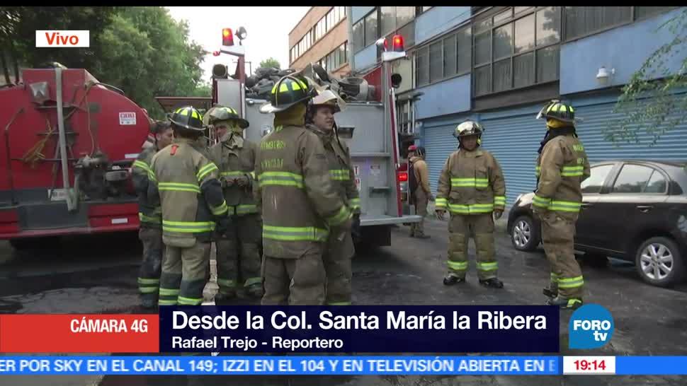 Computadora, Provoca, desata, Incendio, Ciudad de Mexico, Santa Maria la Ribera,