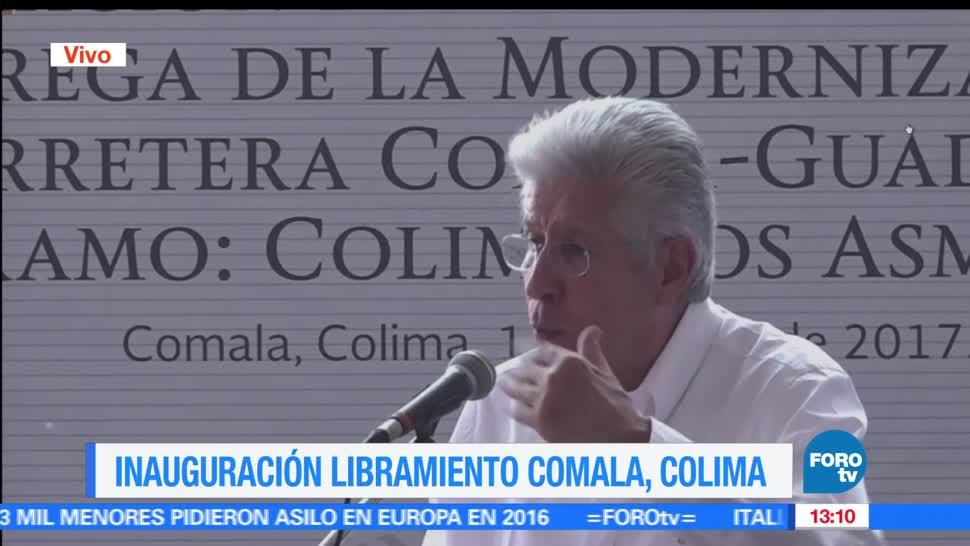 Gerardo Ruiz Esparza, titular, SCT, Libramiento Comala