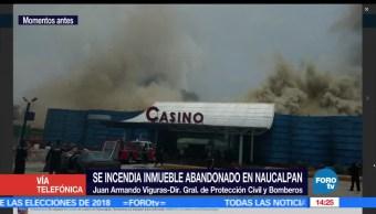 noticias, forotv, Bomberos, Naucalpan, atienden incendio, predio abandonado
