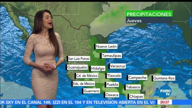 Clima, jueves, Mayte Carranco, Temperatura, lluvia, temperatura