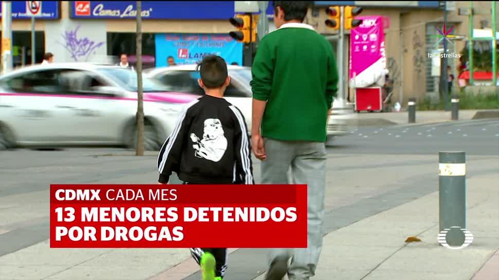 Detienen, CDMX, niño, menor, traficante, droga,
