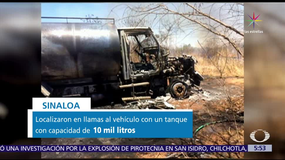 incendia, camión, combustible robado, Culiacán