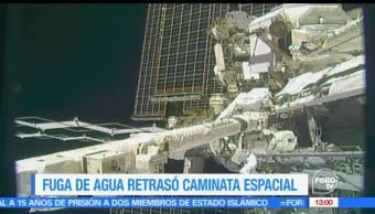 noticias, forotv, Fuga de agua, espacio, Estacion Espacial Internacional, astronautas estadounidenses
