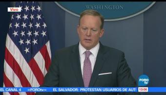 Trump, derecho de expresarse, Sean Spicer, vocero de la Casa Blanca