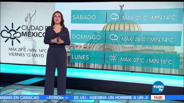 noticias, forotv, El Clima, Raquel Mendez, clima, lluvias