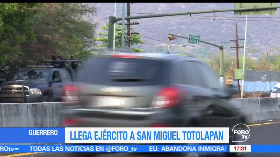 noticias, forotv, Llegan, Fuerzas Federales, Totolapan, Guerrero