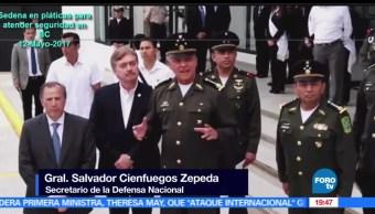Cienfuegos, habla, postura del Ejército, hechos, Palmarito, Puebla, Enfrentamiento