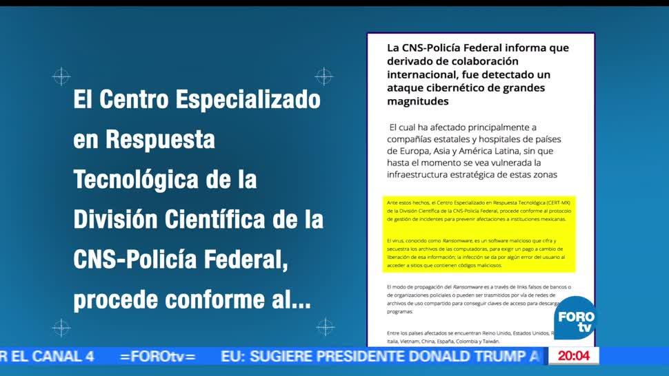 Policía Federal México, detectado, ataques, Ransomware, Cibernetico