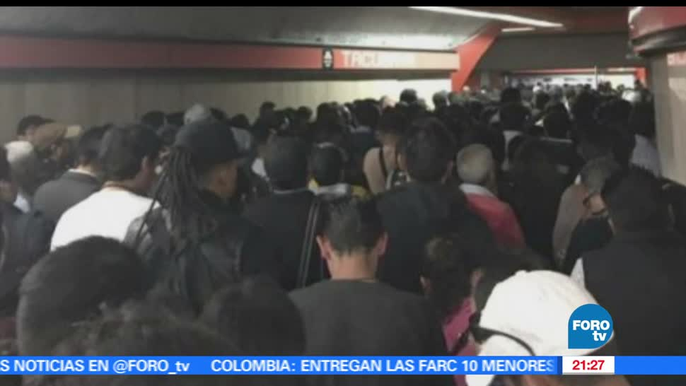 caos, L7, Metro, CDMX, Linea 7, transporte