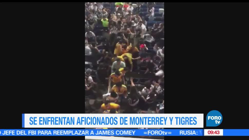 Rayados de Monterrey, Tigres, golpes, gradas del estadio