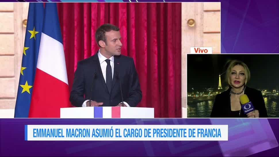 Kasia Wyderko, Emmanuel Macron, primer día, Gobierno