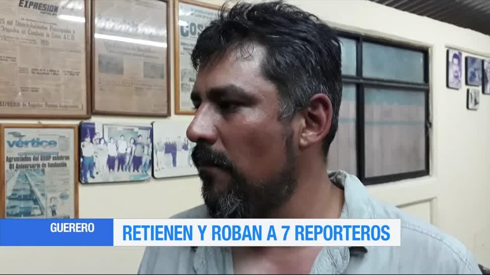 Retienen, roban vehículo, Guerrero, periodistas