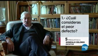 Cinco preguntas, escritor, Gonzalo Celorio, creadores universitarios, cultura, literatura