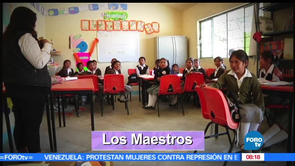 Marilú Esponda, reportaje, celebración, Día del Maestro
