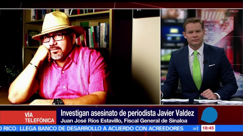 Juan José Ríos Estavillo, fiscal de Sinaloa, 2 líneas de investigación, homicidio de periodista