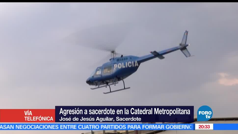 noticias, forotv, Agreden, sacerdote, Catedral capitalina, padre Jose de Jesus Aguilar