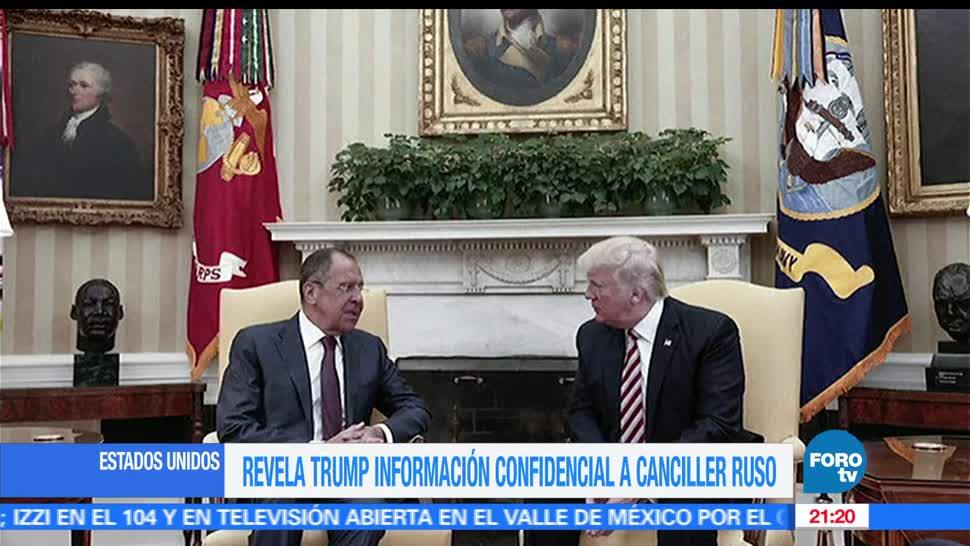 noticias, FOROtv, Trump, canciller ruso, información altamente confidencial, Washigton Post