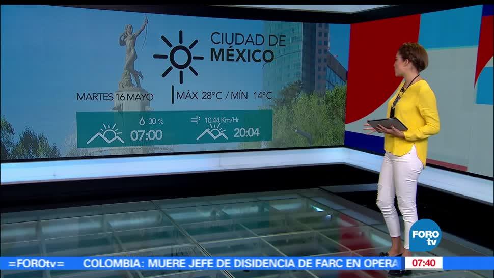 Canales de baja presión, fuertes vientos, norte del país, Ciudad de México, grados centígrados