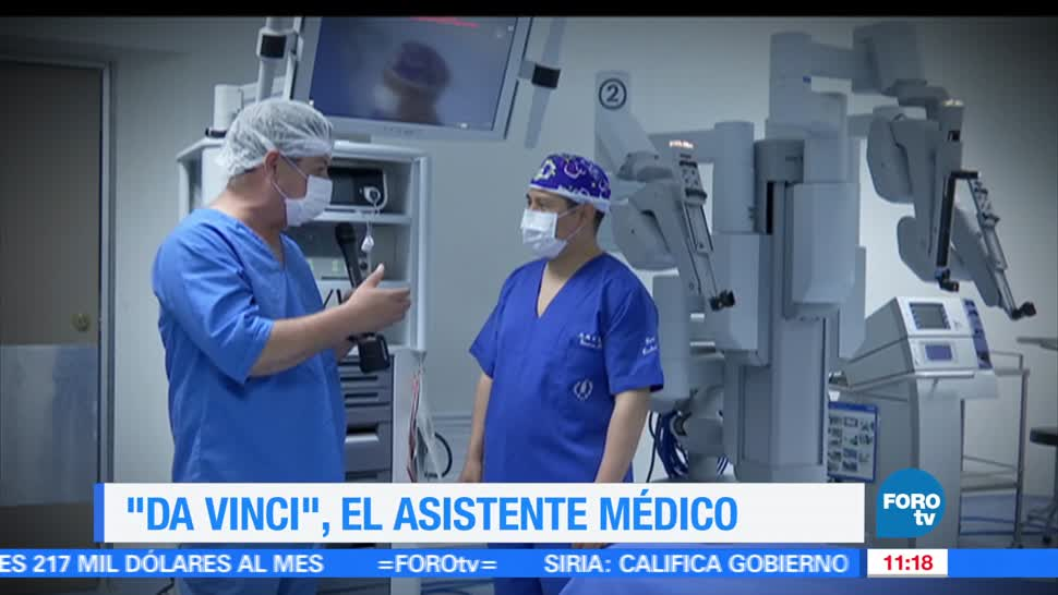 Eduardo Saint Martin, reportaje, Da Vinci, robot para hacer cirugías
