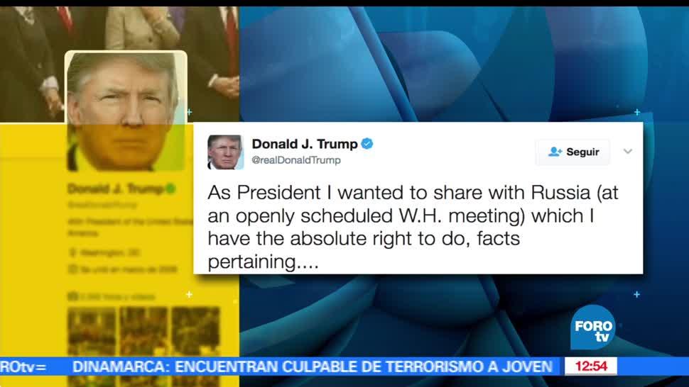 presidente de EU, Donald Trump, Twitter, compartir información