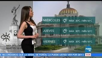 El clima, Mayte Carranco, Línea de inestabilidad, centro del territorio nacional