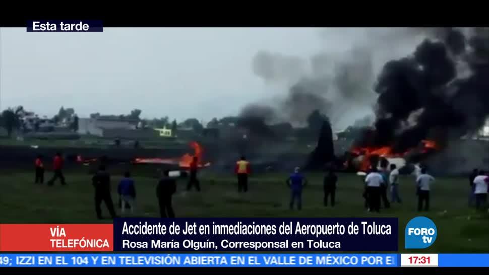 Desplome, aeronave, aeropuerto, Toluca, deja, 2 muertos