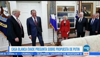 Vocero, Casa Blanca, Sean Spicer, evita responder, Vlamidir Putin, Serguéi Lavrov