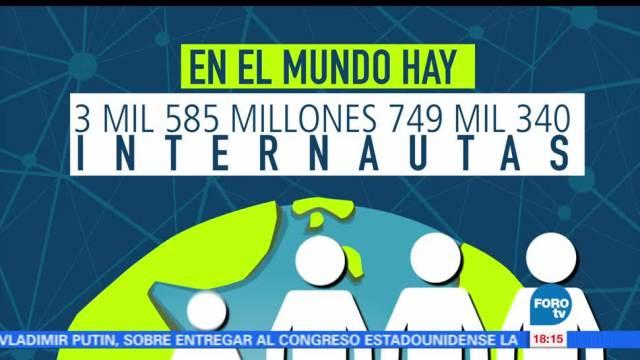 Conmemora, Día, Mundial, Internet, Población, uso de internet en México