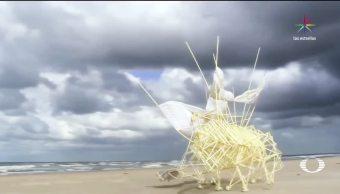 cobrarán vida, CDMX, estructuras de viento, Theo Jansen, Laboratorio de Arte, alameda